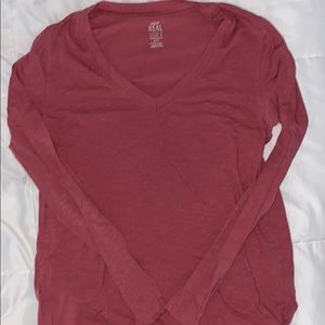 aerie/american eagle small coral long sleeve top